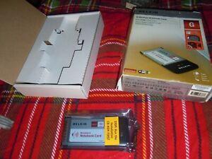 Wireless G Notebook Card : Belkin P57462ed or F5D7010ed