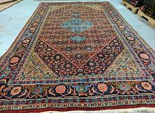 "Primitive Vintage 1950-1970s Wool Pile  6'2""x10'5"" Multi-Colored Tribal Rug"