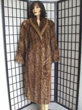 Новая светло-коричневая женская норковая шуба.Размер8-10.Канадский мех.