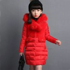 New Cute Fur Hooded Winter Jacket For Girls Warm Coats Girls Winter Parka