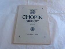 CHOPIN - PIANO - Partition PRELUDES !!!