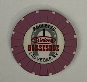 Binions Horseshoe Casino Roulette Chip 1 Las Vegas Nevada