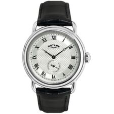 Rotary GS02424-21 Mens Timepieces Sherlock Holmes Silver Black Watch RRP £99