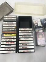 LOT OF 24 CASSETTE TAPES NEW SEALED COUNTRY MUSIC WITH CASES