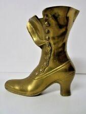 Brass Boot Figure/Vase 9 Inches/23 cm High - EUC