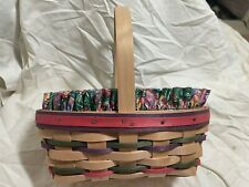Longaberger Small 1997 Easter Basket w/Egg Liner, Protector - beautiful colors!