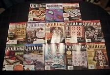 Fons & Porters Love Of Quilting 12 Magazine Lot With Embellishing Secrets Guide