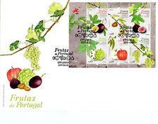 Portogallo 2017 FDC frutta frutta uva mele 6v M/S COPERTURA PIANTE ALBERI FRANCOBOLLI