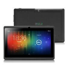 iRULU 7 Zoll Tablet PC 3G Android Quad Core 8GB PAD TAB Dual Kamera WLAN Schwarz