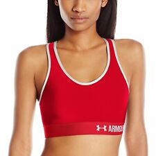 2775c333639a5 Women s Under Armour Armour Mid Compression Sports Bra Sz S Red 1273504 600