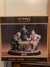 """New ListingFlambro Emmett Kelly Jr """"Fair Game"""" 9798. Limited Edition Signature Collection"""