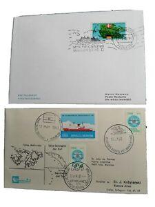 Erstagsbrief Argentinien 22 April 1982 Und Brief MF D Margarethe II 21 2.1985