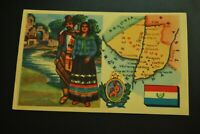 Vintage Cigarettes Card. PARAGUAY. REGIONS OF THE WORLD COLLECTION
