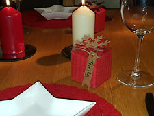 Mini Christmas Cracker small gift boxes or table boxes x 6(red)