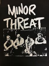 Minor Threat Band Back Patch NEW Porch Pic Black Canvas Ian Mackaye Straight Edg
