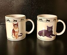 Cat Coffee Mugs Cat Lovers Limited Collectable Turkish Van Brown Tabby 10 ounces