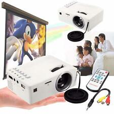 1000 Lumens 3D Mini LED LCD Projector HD 1080P Home Theater HDMI USB VGA AV FF