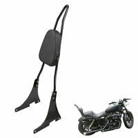 Motorbike Sissy Bar Rear Passenger Back Rest Backrest Pad For Harley Iron 883 KY