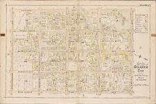 1896 ATLANTIC CITY NEW JERSEY ABSECON LIGHTHOUSE CONGRESS HALL MUELLER ATLAS MAP
