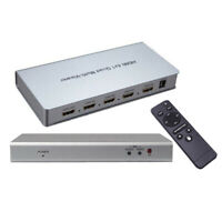 A73D HDMI 4x1 Quad Multi-Viewer Konverter Nahtlose Umschalter IR Fernbedienung