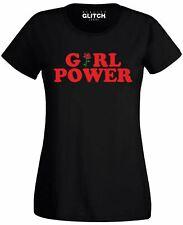 Girl Power Rose Women's T-shirt Slogan Ladies Flower Red Design Art Feminin