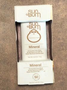 Sun Bum Mineral Face Sunscreen Stick Broad Spectrum 50 SPF