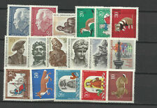 WEST GERMANY BERLIN 1967 COMPLETE YEAR STAMP COLLECTION 17v Mint Never Hinged