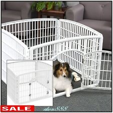 Fence Cage Plastic Pet Pen Dog Kennel Puppy Exercise Fold Safe Easy Gate 4 Panel