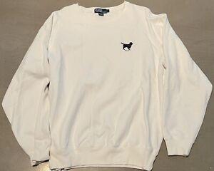 Vintage Men's Polo by Ralph Lauren Dog Sweatshirt Size Large Ivory Color