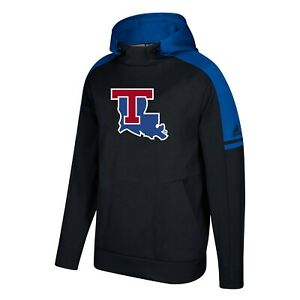 Louisiana Tech Bulldogs NCAA Adidas Men's Black Game Built Sideline Hoodie