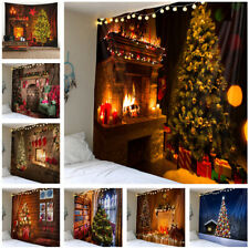 Christmas Wall Tapestry Xmas Tree Pattern Wall Hanging Tapestries Home Decor NEW
