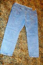 Men's Wrangler Rugged Wear  Denim Blue Jeans Pants 44X30