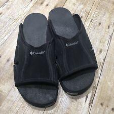 Columbia Black Strap Slip On Sandals Mens Size 10
