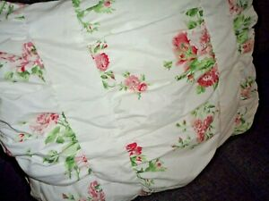 BETTER HOMES WHITE PINK FLORAL COUNTRY CHIC (1) STANDARD PILLOW SHAM 20 X 26