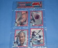 """JAWS MOVIE 4 METAL CARDS PUZZLE COLLECTIBLES Steven Spielberg  SET """"B"""""""