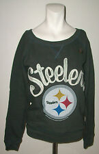 JUNK FOOD PITTSBURGH STEELERS BLACK SWEATSHIRT SIZE XS NEW WITHOUT TAGS