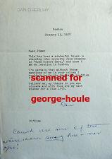 DAN O'HERLIHY - TYPED LETTER -1958- SIGNED - ROBOCOP - AA NOM - ROBINSON CRUSOE