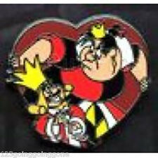 QUEEN OF HEARTS VILLAINS Villain King Alice in Wonderland Mini Pin Disney 78573