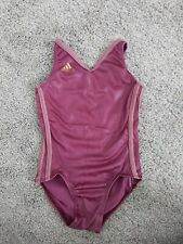 GK elite Adidas Purple Shimmer Gymnastics Dance Leotard CS