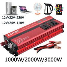 2000W DC 12V à 220V voiture Convertisseur De Courant Onduleur Chargeur USB Ports