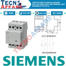 Contattore di Installazione 63A 230/400V 2NO+2NC Bobina 220V Siemens 5TT5752-0
