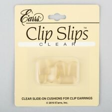 Slide on Cushions for Clip on earrings   3 pair  clear