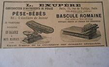 Pub L. Exupère Pèse Bébés Bascule Romaine Image Print 1906