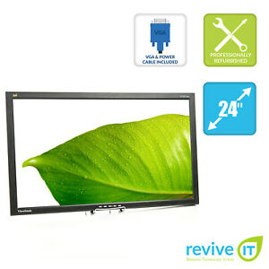"ViewSonic VG2427wm  24"" Widescreen 1920x1080 16:9 TN HD LCD Monitor ONLY Grade A"