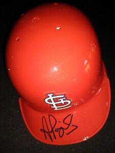 Albert Pujols Signed Mini Helmet