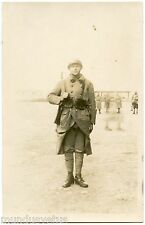 CARTE PHOTO. MILITAIRE FRANCAIS. MILITARIA. METZ (57). DéCEMBRE 1927
