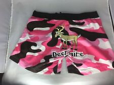 Lazy One Women's Boxer PJ Shorts Deeriere Pink Camo Deer Small Ladies Teen