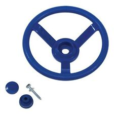 STEERING WHEEL~BLUE Cubby House Accessories Playground Equipment Fort