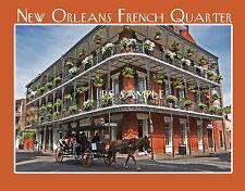 Louisiana - New Orleans FRENCH QUARTER - Travel Souvenir Fridge MAGNET