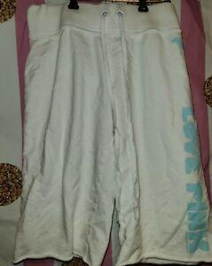 Victoria's Secret Small white elastic waist shorts cotton *has stains